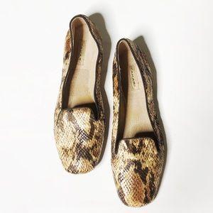 Tahari Clementine Snakeskin Loafers